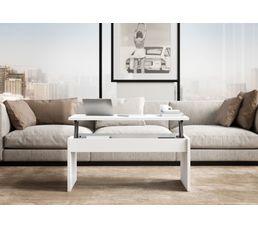 Table basse plateau relevable YANA Blanc