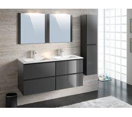 Colonne salle de bain suspendre fidji gris anthracite for Meuble colonne salle de bain a suspendre