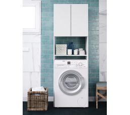 Meuble pour machine à laver PORQUEROLLES Blanc
