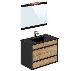 Meuble Idees: meuble de salle de bain noir ikea