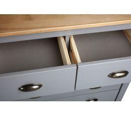 Commode 5 tiroirs JOYCE gris