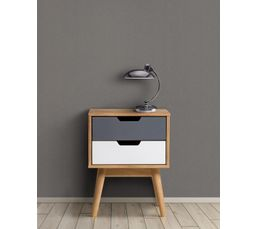 Chevet scandinave 2 tiroirs anael bois massif chevets but - Table de nuit scandinave ...