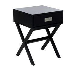 Chevet 1 tiroir Fred noir