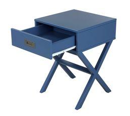 Chevet 1 tiroir Fred bleu foncé