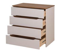 Commode 4 tiroirs ELISA coloris pin blanchi Bois massif