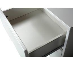 chevet 2 tiroirs Suède blanc