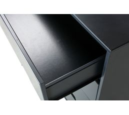 Commode 4 tiroirs Suède gris