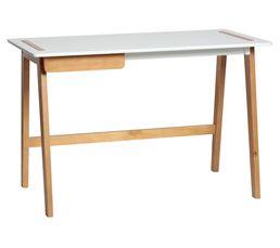 Bureau contemporain DANA Blanc et bois