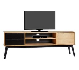excellent lucia noir et bois cir with rehausseur tv ikea. Black Bedroom Furniture Sets. Home Design Ideas