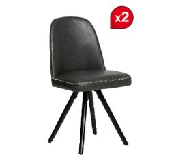 Lot De 2 Chaises JAGGER Gris Anthracite