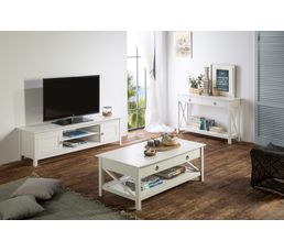 meuble tv bord de mer maui blanc meubles tv but. Black Bedroom Furniture Sets. Home Design Ideas