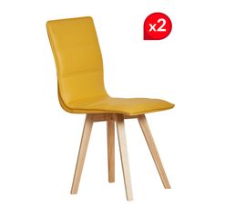 Lot 2 chaises KARLA jaune