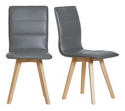 Lot de 2 chaises KARLA gris