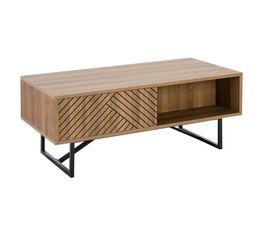 Table basse industriel EDEA Imitation chêne et noir