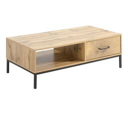 Table Basse CUTWOOD imitation chêne et noir