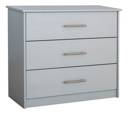 Commode 3 tiroirs HAPPY 3 gris