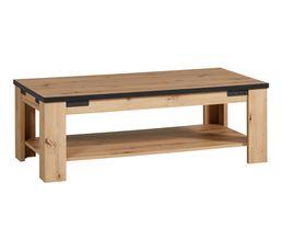 table basse rectangulaire LAZIO noir/ imitation chêne