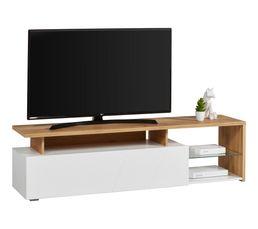 Meuble TV L.170 ARCTIC Chêne/Blanc