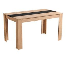 Table de séjour DOMUS Imitation chêne et noir