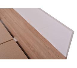 Lit 140x190 cm FELIX Décor sonoma et blanc