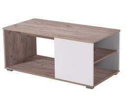Table basse AMOS Bois gris et blanc