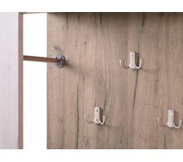 Vestiaire entrée KENT Blanc et bois gris