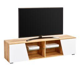 Meuble TV MAX Chêne/blanc