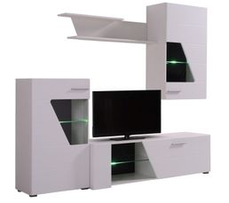 Meuble télé LED RINGO Blanc