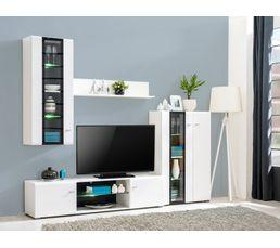 Mur TV LED design SKYLIGHT Blanc et noir