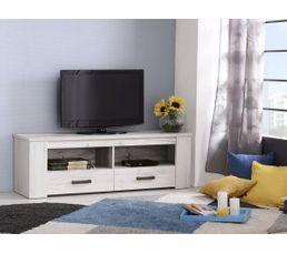 meuble tv campagne cecilia chne blanc
