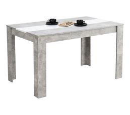Table de séjour DOMUS Imitation béton et blanc