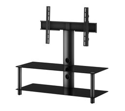 meuble tv support pivotant 110 cm noir meubles tv but. Black Bedroom Furniture Sets. Home Design Ideas