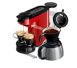 PHILIPS Cafetière à dosette HD7892/81 Switch rouge