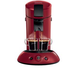 PHILIPS Cafetière à dosette Senseo HD7817/94 Rouge carmin