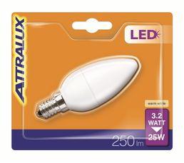 Ampoule LED 3,2W équiv 25W - 250lm E14 Blanc chaud