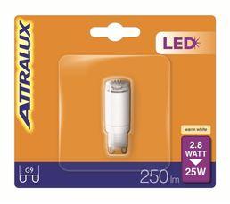 Ampoule LED 2,8W équiv 25W 250 lm G9 Blanc chaud
