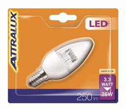 3,3W équiv 25W 250lm E14 Ampoule LED Blanc chaud