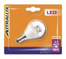 Ampoule LED 3,3W équiv 25W 250lm E14 Blanc chaud