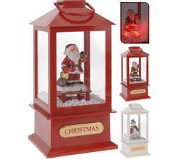 Lanterne Père Noël H. 38 cm Assortis