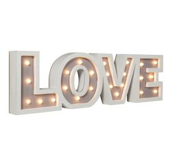 Objet Lumineux LOVE LETTRE LED 2 Blanc