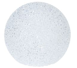 Boule LED diam 10 cm  Blanc