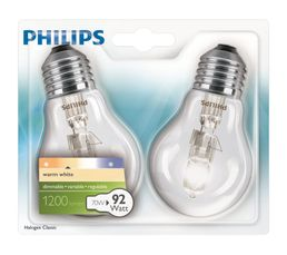 Ampoule Halo eco 70W équiv 92 W E27 Blanc chaud