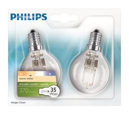 Ampoule Halo Eco 28W équiv 35W E14 Blanc chaud