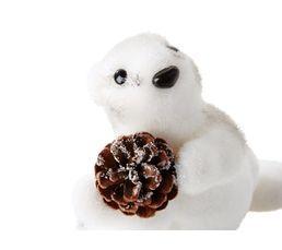 Ecureuil H. 19 cm  Blanc