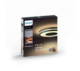 Plafonnier LED + Télécommande BEING Noir