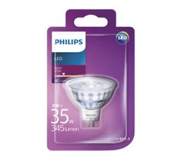Ampoule LED 5W équiv 35W 230lm GU5,3 Blanc chaud