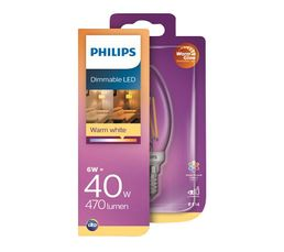 Ampoule LED fil flamme E14 40W PHILIPS Blanc chaud