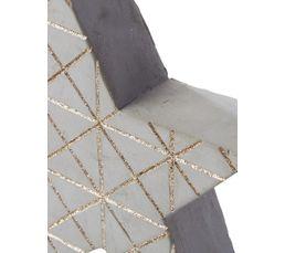 Etoile béton H. 15 cm  Gris