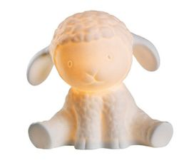BABY SHEEP porcelaine blanc Lampe Enfant mouton