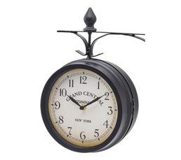 Horloge murale D.33 cm GRAND CENTRAL Noir